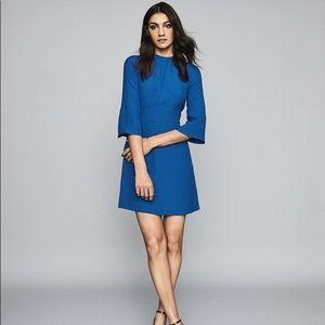Reiss Cora Bell Sleeve Cobalt Blue Shift Dress